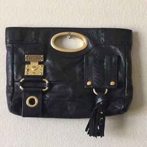 Juicy Couture Genuine Leather Black Clutch
